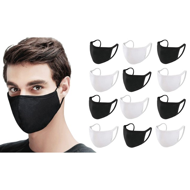 10-Pack Reusable & Washable Cotton Breathable Face Mask