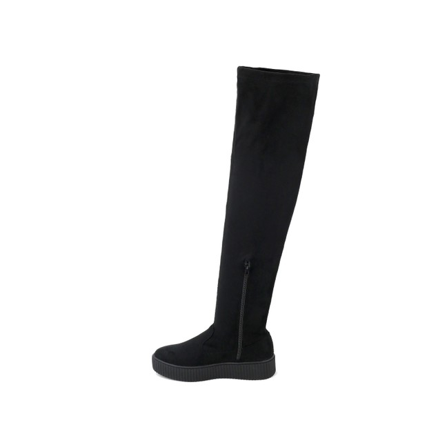 Olivia Miller 'Holbrook' Sneaker Bottom Velvet Over the Knee Boots