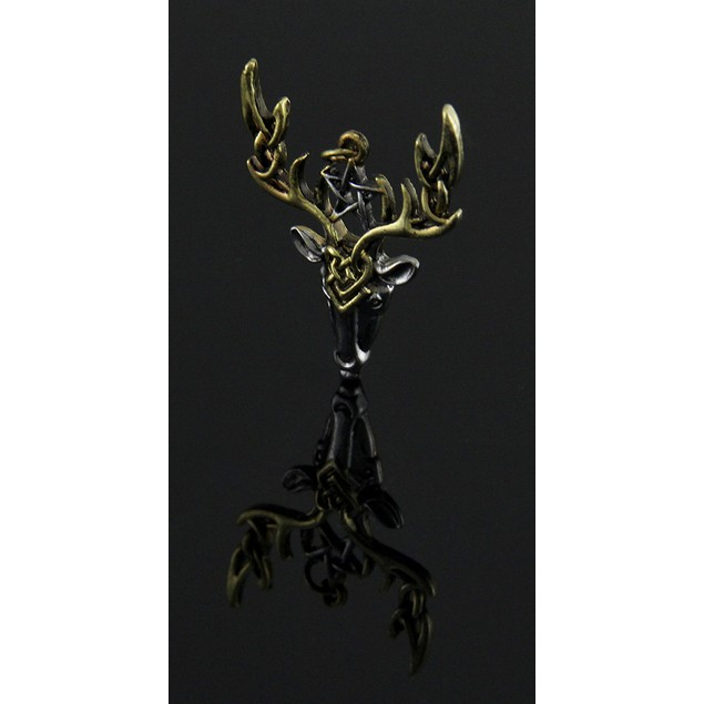 Beltane Stag Pendant / Necklace For Fertile Energy Mens Pendant Necklaces
