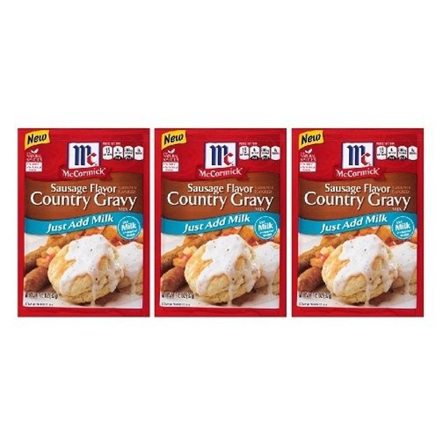 McCormick Sausage Flavor Country Gravy Mix 3 Packet Pack