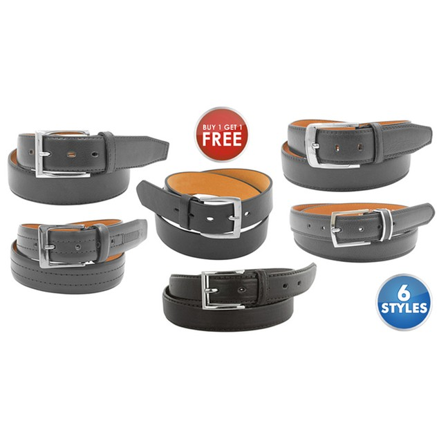 Men's Genuine Leather Dress Belts- Buy one get one FREE