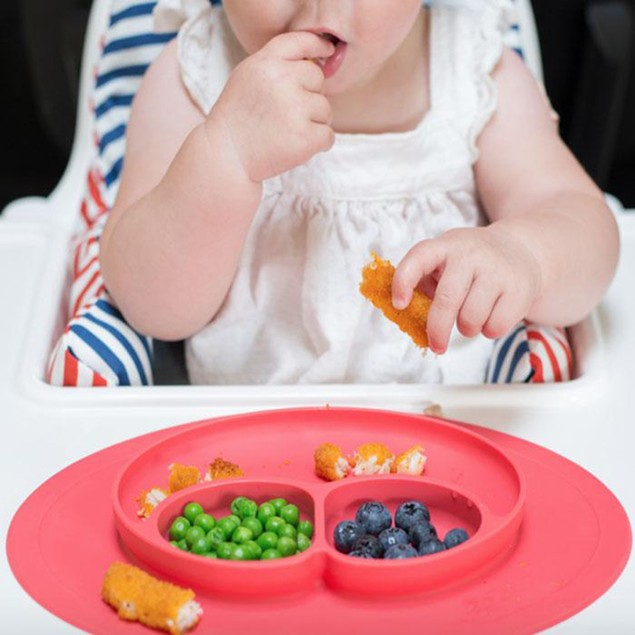 Silicone Feeding Placemat and 3-Section Plate