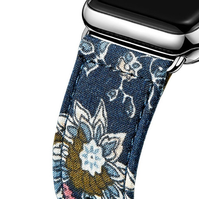 iPM Leather & Cloth Band with Buckle for Apple Watch
