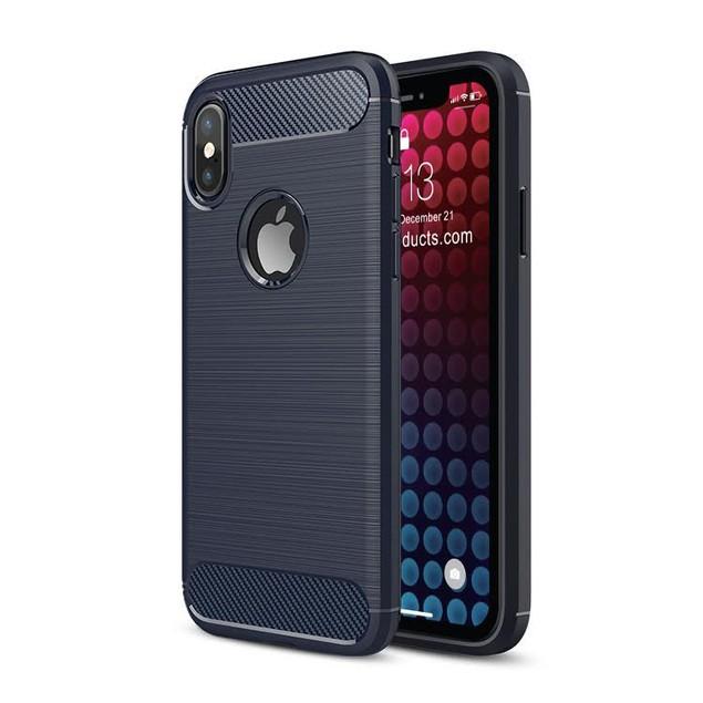Waloo Brushed Slim Carbon Fiber Case For iPhone