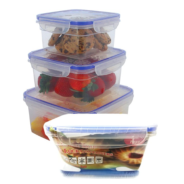 12-Piece Square or Rectangle Snap and Lock Container