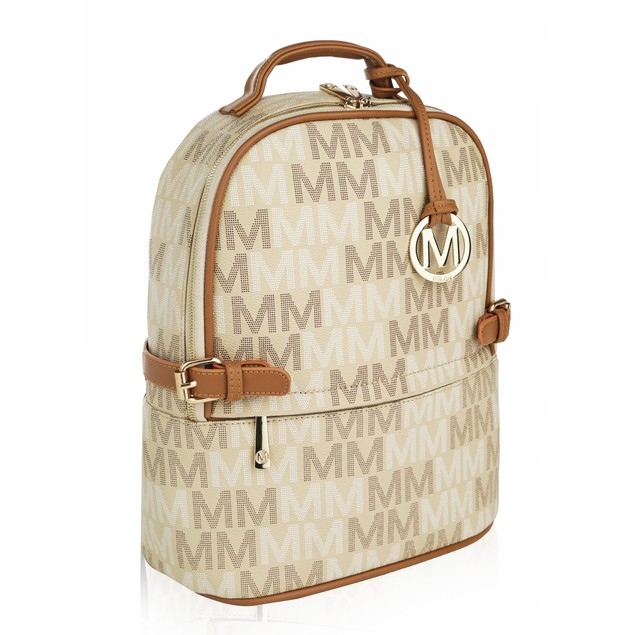 """MKF Collection Cleo Milan """"M"""" Signature Trendy Backpack by Mia K. Farrow"""
