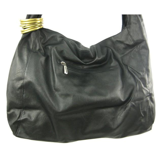 Brass Chrome Studded Shoulder Bag