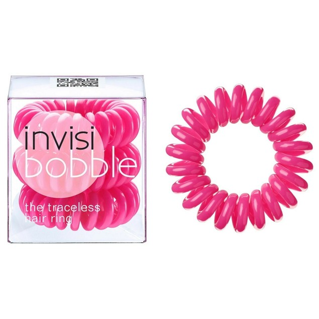 9-Pack Invisibobble Original Traceless Hair Ties, Extra Strong - Pink