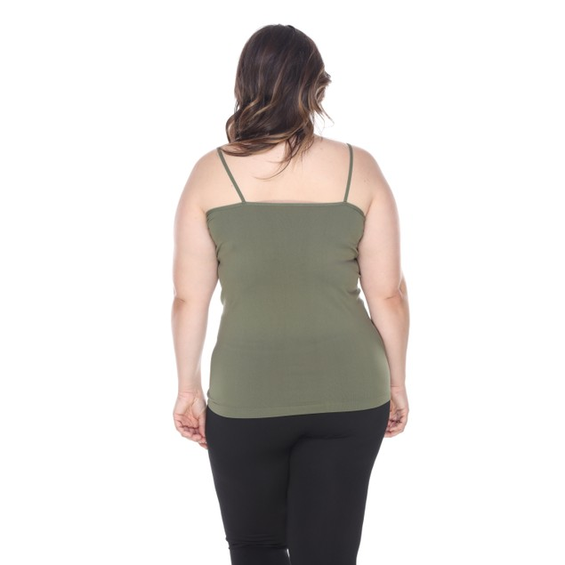 Plus Size Lace Trim Tank Top - 8 Colors