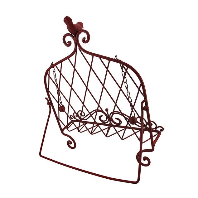 Decorative Red Bird Metal Cookbook Stand Book Cookbook Stands