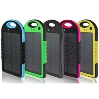 Water-Resistant Solar 5000 mAh Power Bank
