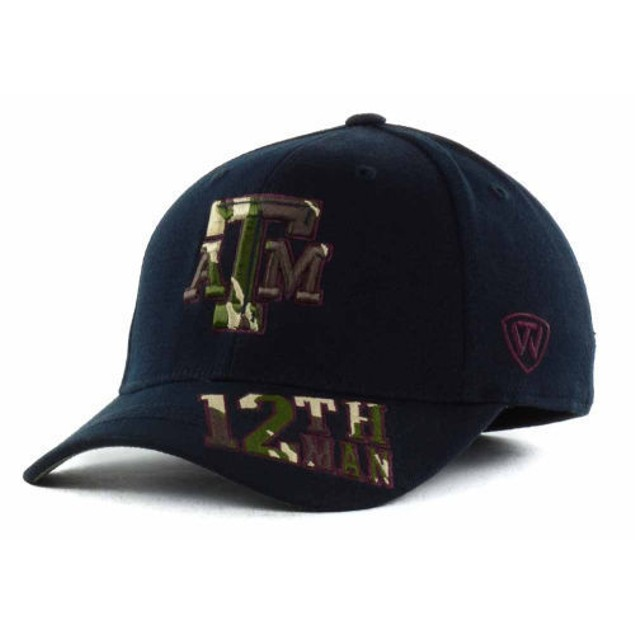 """Texas A&M Aggies NCAA TOW """"Dog Tag"""" Stretch Fitted Hat"""