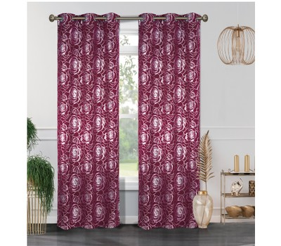 2-Pack Blackout Curtain Panels with Metallic Print (38'' X 84'') Was: $49.99 Now: $24.99.