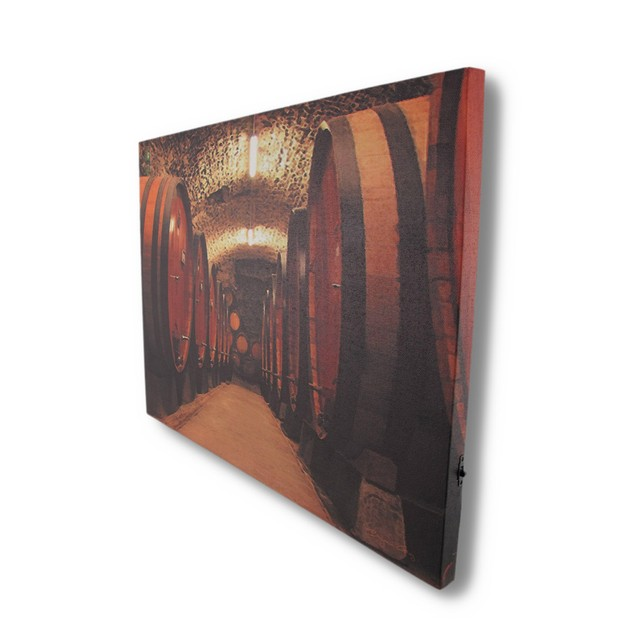 Wine Cellar Canvas Print With Led Lights Wall Prints