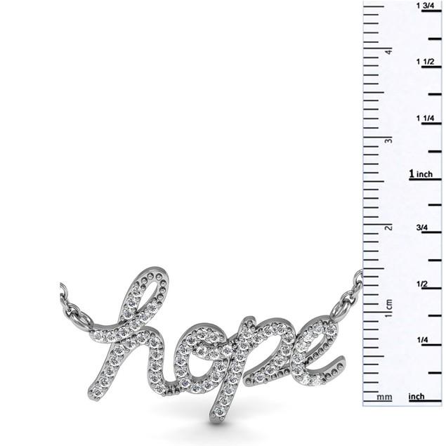 Sterling Silver 1/2 Carat Diamond Hope Necklace