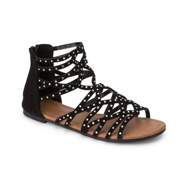 Olivia Miller 'Kissimmee' Multi Ab Heat Sealed Rhinestone Studded Sandals