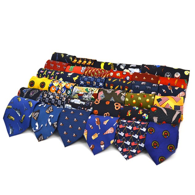 3-Pack Poly Knit Novelty Ties