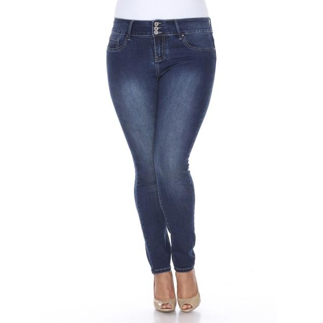 White Mark Plus Size Super Stretch Denim Jeans