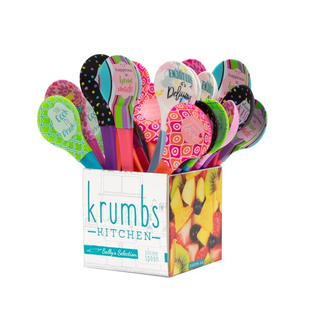 3 Pack Krumbs Kitchen Sally's Selection Silicone Spoons