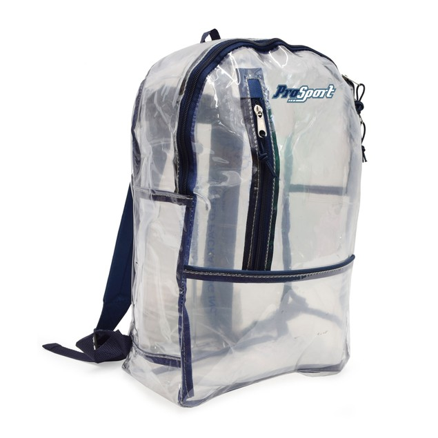 Prosport Multi Pocket Clear School Backpack