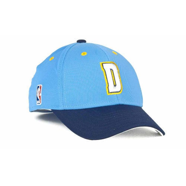 "Denver Nuggets NBA Adidas ""Courtside"" Stretch Fitted Hat"