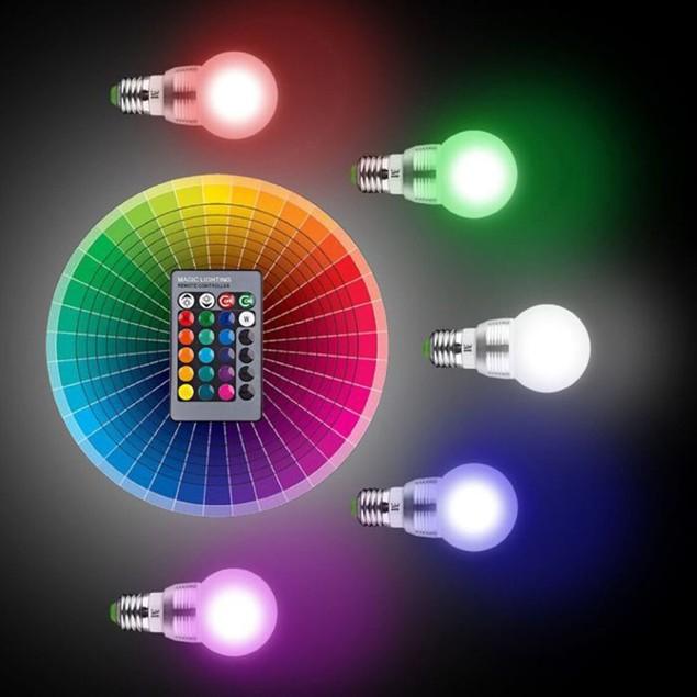 4-Pack Massimo RGB Round Bulb