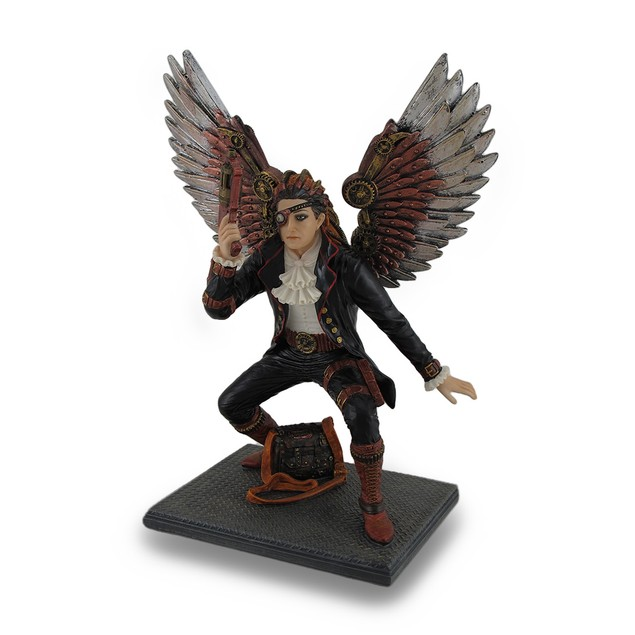 Hand Painted Steampunk Guardian Angel Statue / Statues