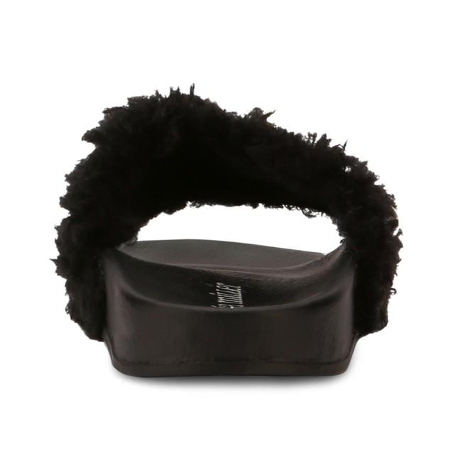Olivia Miller 'Wales' Multi Pearl Fur Pool Slide Sandals