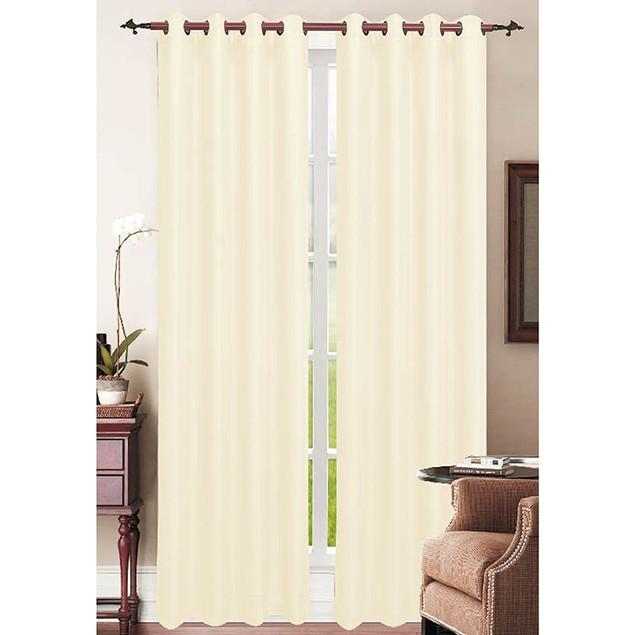 Extra Wide 108X84 Debbie Faux-Linen Grommet Curtain Panels