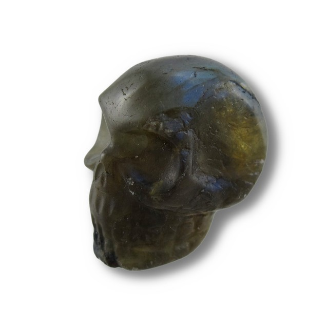Beautiful Carved Labradorite Gemstone Skull 25Mm 1 Loose Gemstones