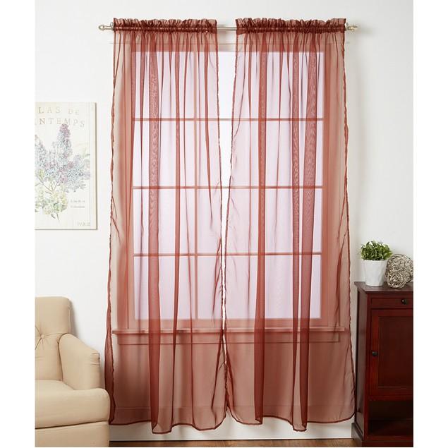 4-Pack Linda Sheer Voile Curtain Panels