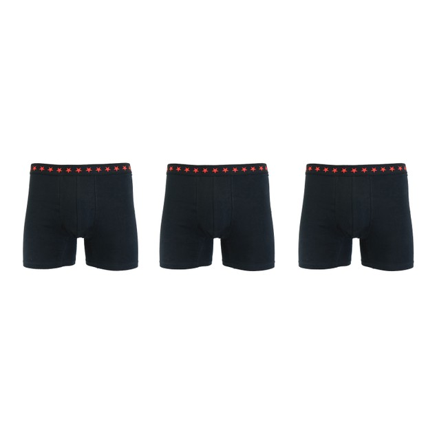 3-Pack Mens Cotton Tech Comfort Stretch Boxer Briefs