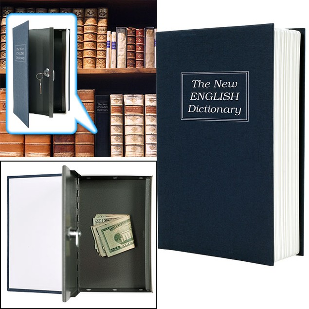 Dictionary Diversion Book Safe w/ Key Lock - Metal