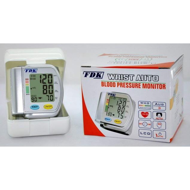 FDK Speaking Wrist Cuff Blood Pressure Monitor (English/Spanish)