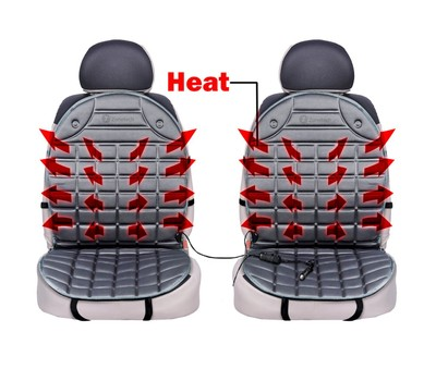 2-Pack Zone Tech 12V Heated Seat Cover Cushion Warmer Was: $41.99 Now: $32.99.