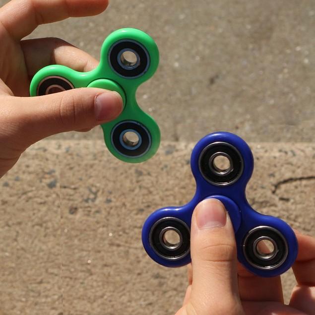3-Pack Tri-Spinner Fidgets Anti Stress Sensory Fidget Spinner