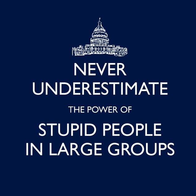 Never Underestimate Large Groups T-Shirt