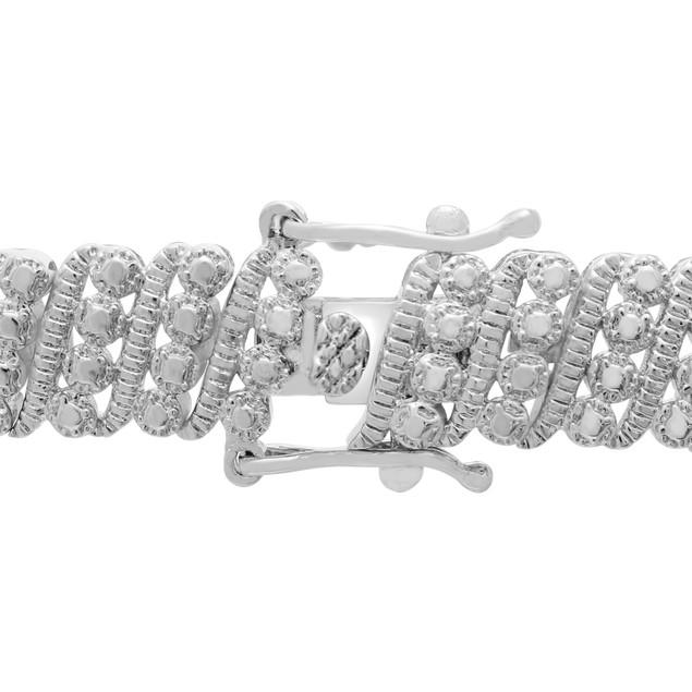 Four Row Diamond Bracelet 0.99cttw