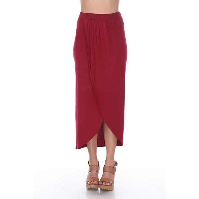 White Mark Universal Wrap Midi Skirt - 5 Colors