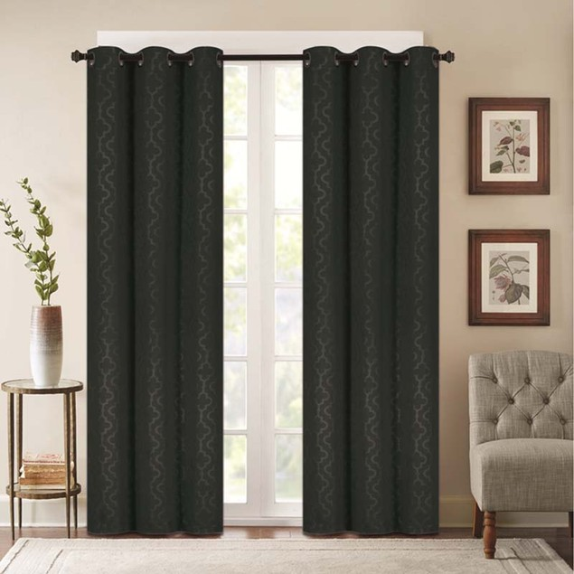 Madison Lattice Embossed Blackout Panel Pair