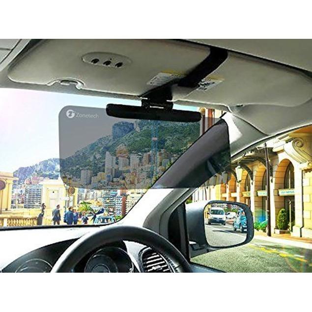 Zone Tech Car Anti-Glare Tinted Windshield Sun Visor Extender UV Rays Block