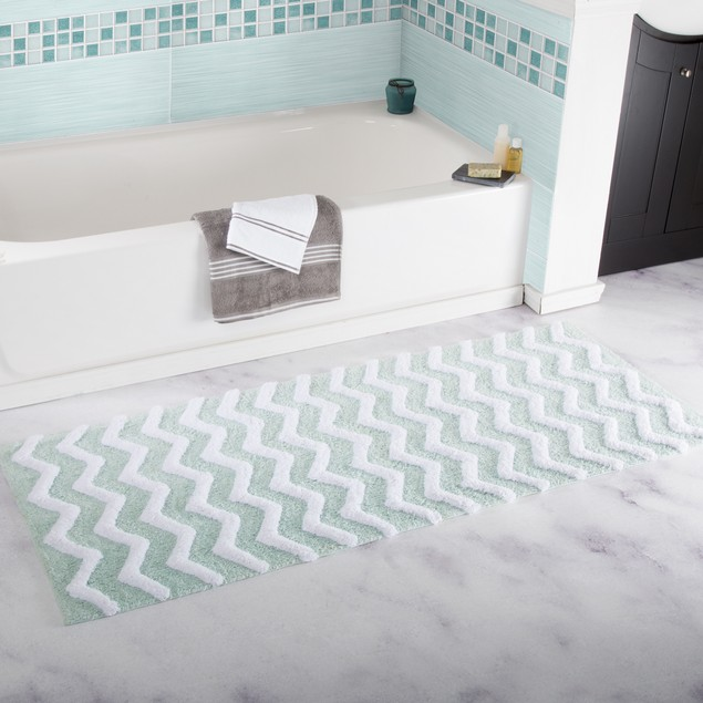 100% Cotton Chevron Bathroom Mat 24 x 60 inches