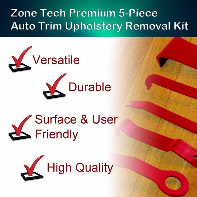 Zone Tech 5pc Trim Removal Kit Clip Interior Wedge Door Panel No scratch