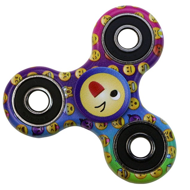 5-Pack Tri-Spinner Fidgets Anti Stress Sensory Fidget Spinner