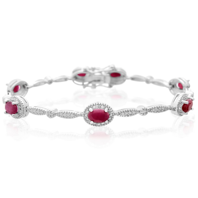 Classic Ruby and Diamond Bracelet