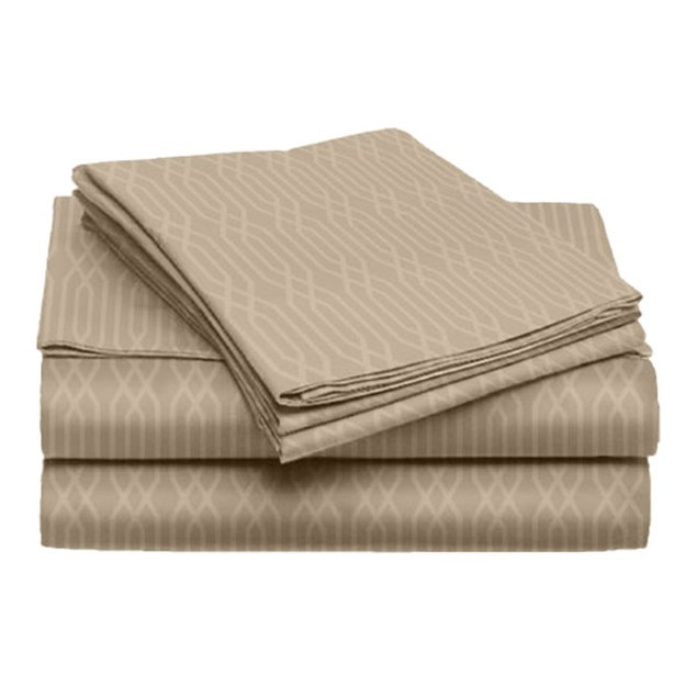 Wilow Collection 4-Piece Embossed Microfiber Set