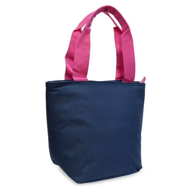 Polar Pack Insulated Lunch Bag 9 Can Cooler Tote Bag w/ Front Zipper Pocket