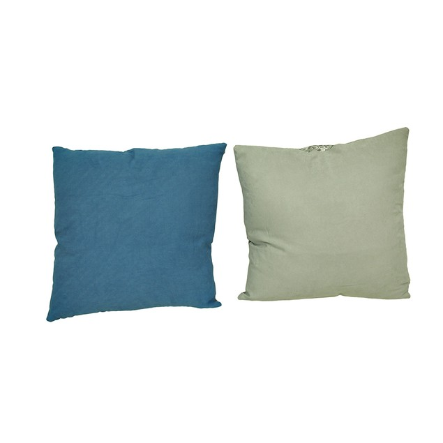 Set Of 2 Peacock Feather Print Decorative Throw Throw Pillows