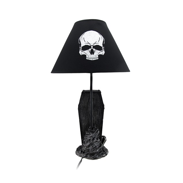 The Gloaming Skeleton In A Coffin Table Lamp And Table Lamps