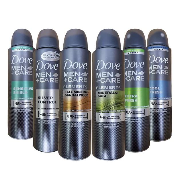 6-Pack Dove Men+Care Dry Spray Antiperspirant Deodorant 150 ML